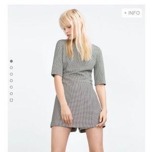 Zara Trafaluc gingham skort jumpsuit